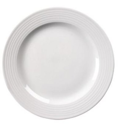 Olympia Bord Broad Border | Linear White Porcelain | 250mm | 12 pieces