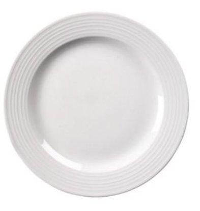 Olympia BORD Broad Grenze | Linear Weißes Porzellan | 250mm | 12 Stück