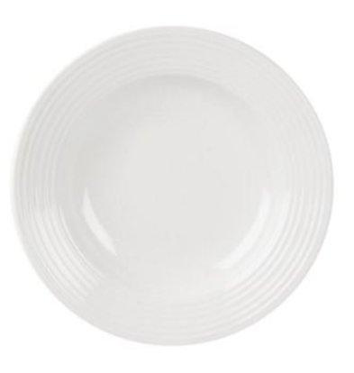 Olympia Pastateller | Linear Weißes Porzellan | 310mm | 6 Stück