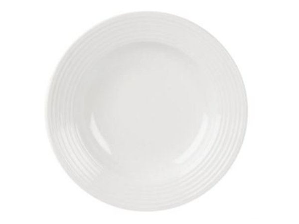 Olympia Pasta Plate | Linear White Porcelain | 310mm | 6 pieces