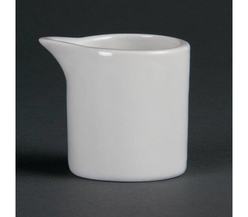 Olympia Melkkannetje | Olympia Wit Porselein | 50x50mm | 6 Stuks