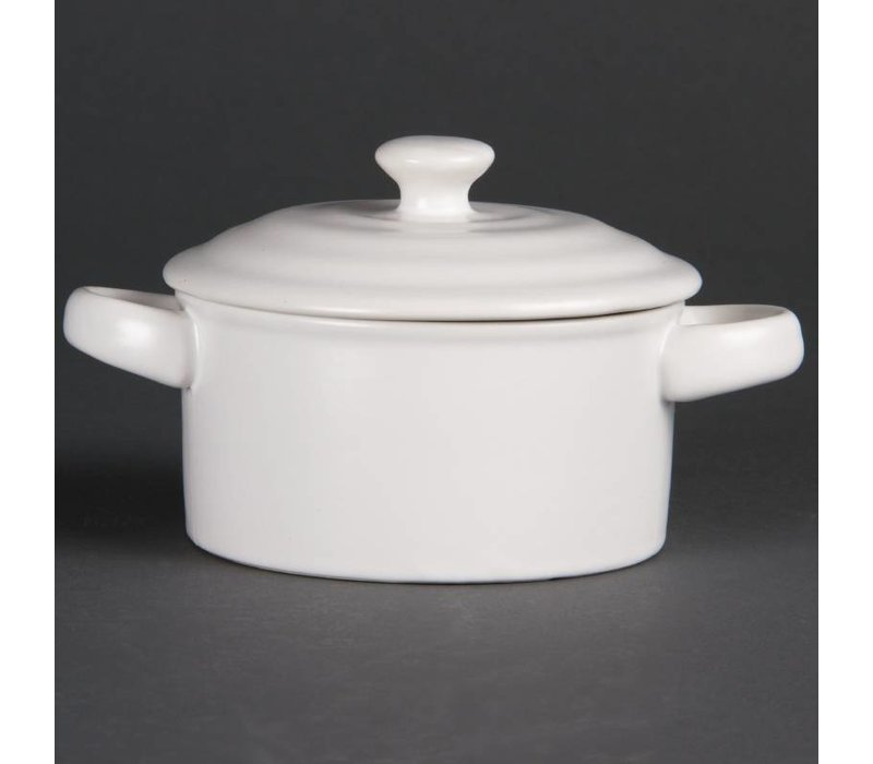 Olympia Minipan | Olympia Wit Porselein | 142 ml | 4 Stuks