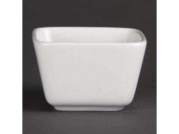 Olympia Minischaaltje | Olympia Wit Porselein | 75x75mm | 12 Stuks