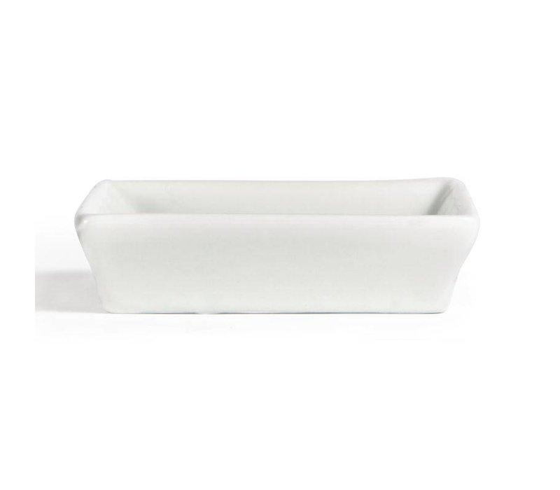 Olympia Minischaaltje | Olympia Wit Porselein | 80x80mm | 12 Stuks