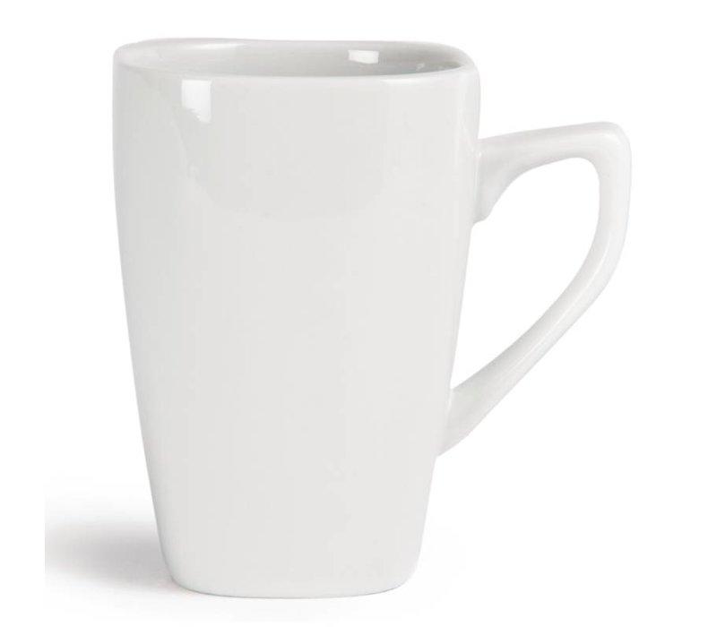 Olympia Abgerundete Becher | Olympia Weißes Porzellan | 284ml | 12 Stück