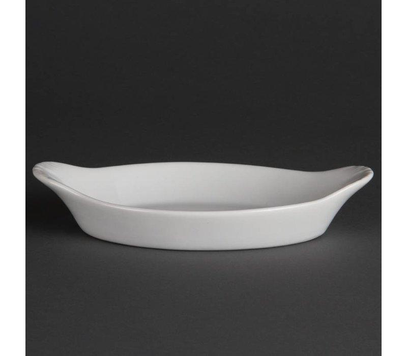 Olympia Ovale Gratineerschaal | Wit Porselein | 204x118mm| 6 Stuks