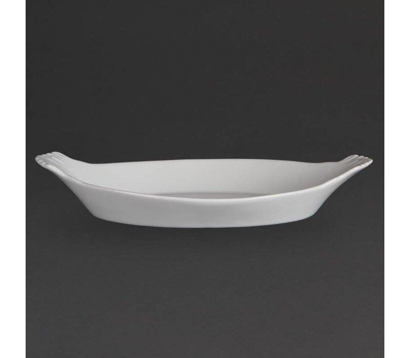 Olympia Ovale Gratineerschaal | Wit Porselein | 290x160mm | 6 Stuks