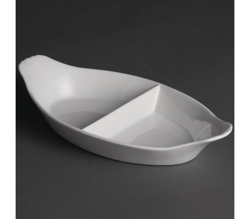 Olympia Gratineerschaal | Wit Porselein | 300x160mm | 6 Stuks