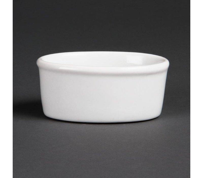 Olympia Ramekin Ovaal | Wit Porselein | 150ml | 12 Stuks