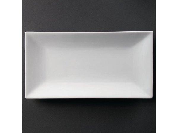 Olympia Rechthoekige Schaal | Olympia Wit Porselein | 380x200mm