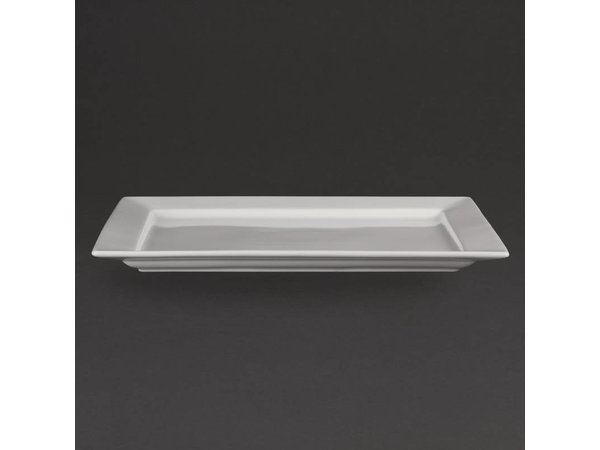 Olympia Schaal Rechthoekig   Olympia Wit Porselein   430x300mm