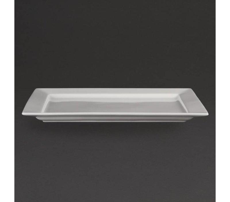 Olympia Schaal Rechthoekig | Olympia Wit Porselein | 430x300mm
