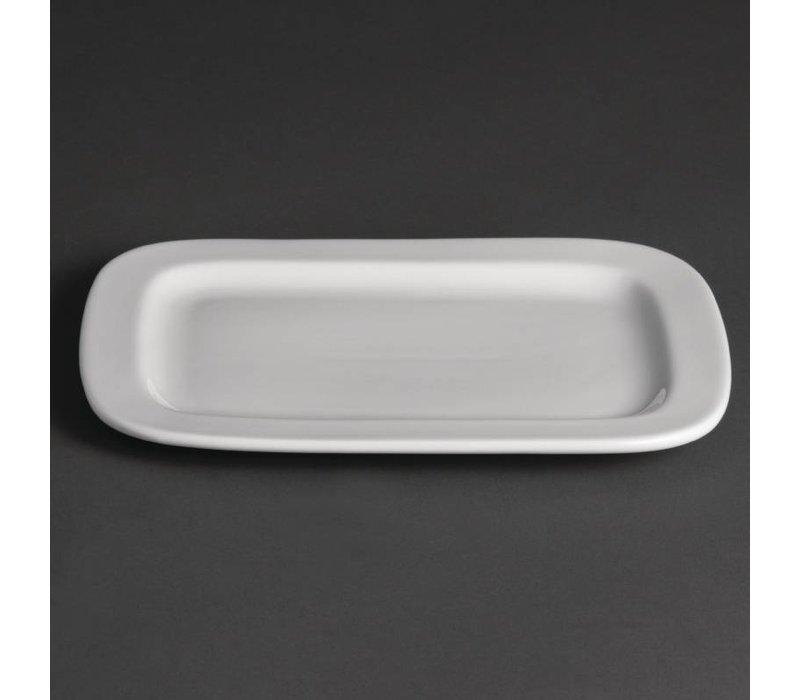Olympia  Schaal Rechthoek Afgerond | Wit Porselein | 230x170mm | 12 Stuks