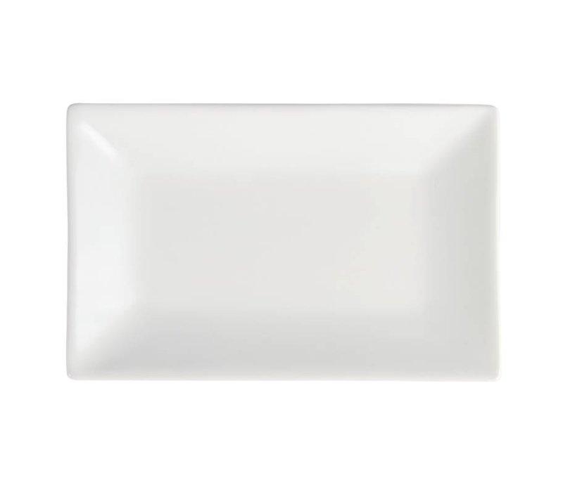 Olympia  Schaal Rechthoek Afgerond | Wit Porselein | 200x130mm | 6 Stuks