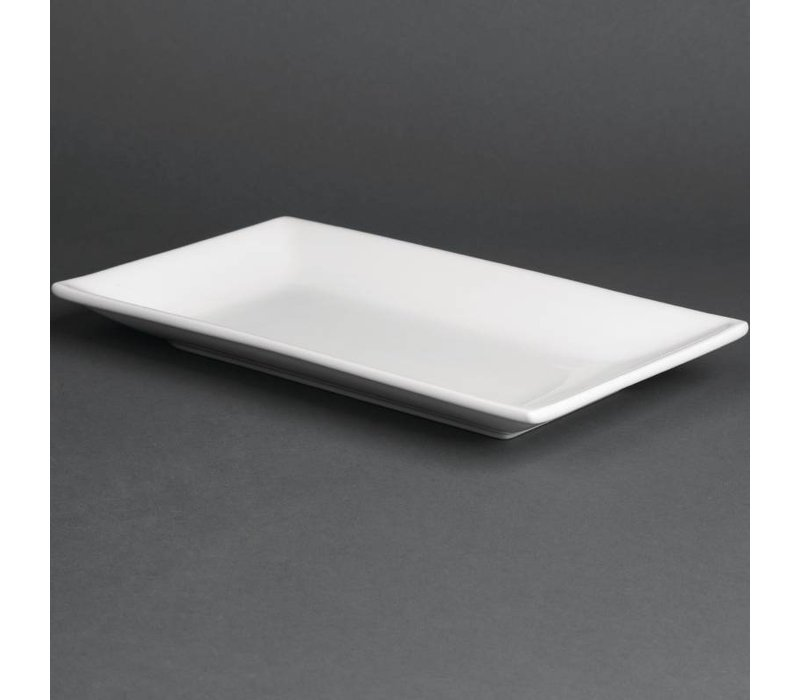 Olympia Schaal Rechthoekig | Olympia Wit Porselein | 250x150mm | 4 Stuks