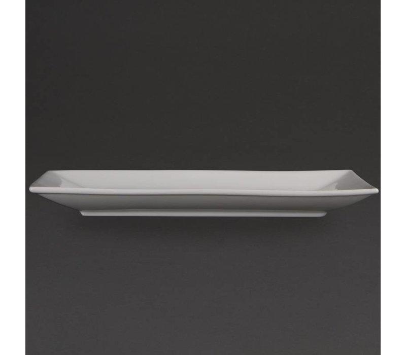 Olympia Schaal Rechthoekig | Olympia Wit Porselein | 310x180mm | 2 Stuks