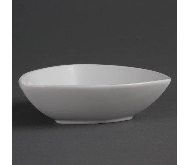 Olympia Diehoekig Schaaltje | Olympia Wit Porselein | 155x45mm | 6 Stuks