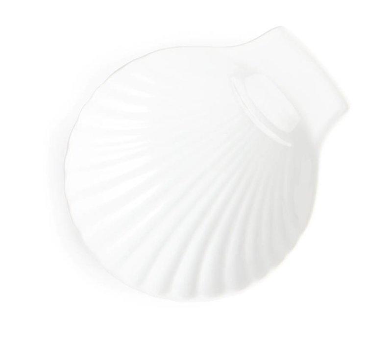 Olympia Schelp Schaal | Wit Porselein | Ø130mm | 6 Stuks