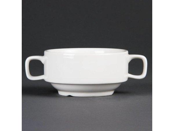 Olympia Soepkop | Olympia Wit Porselein | 420 ml | 6 Stuks