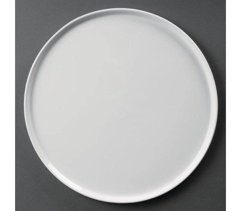 Olympia Pizzabord | Olympia Wit Porselein | Ø330mm | 4 Stuks
