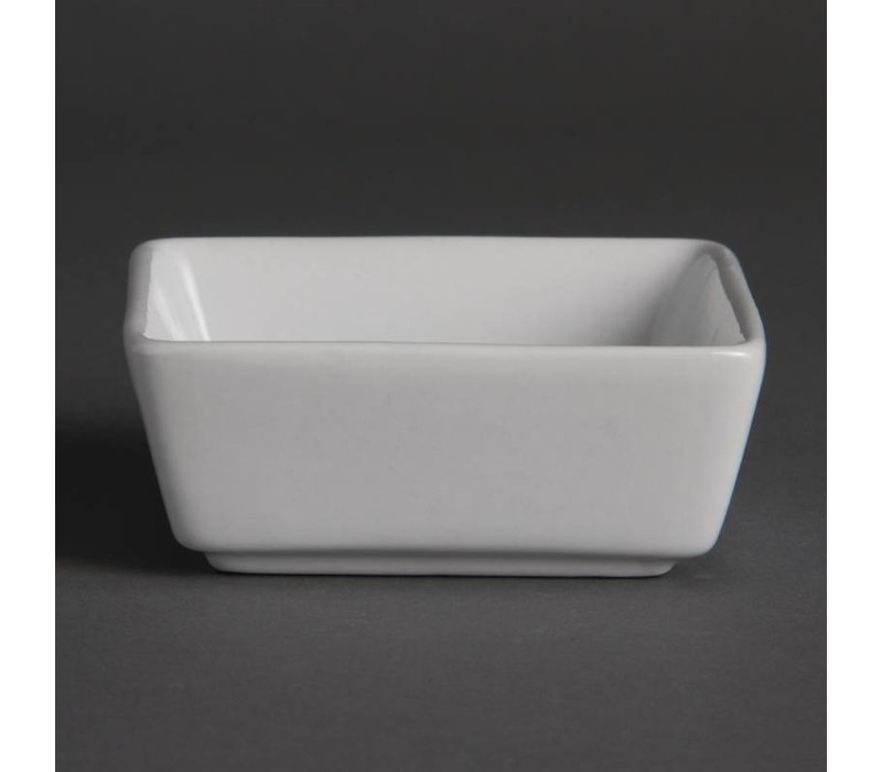 Olympia Amuse Schaaltje | Olympia Wit Porselein | 80x80x35mm | 12 Stuks