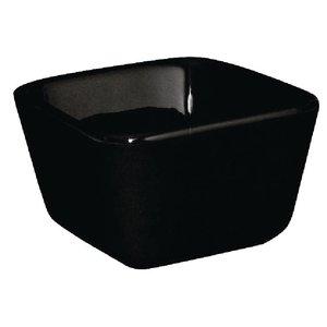 XXLselect Hoge Mini-Schaal | Zwart Porselein | 75x75x50mm | 12 Stuks