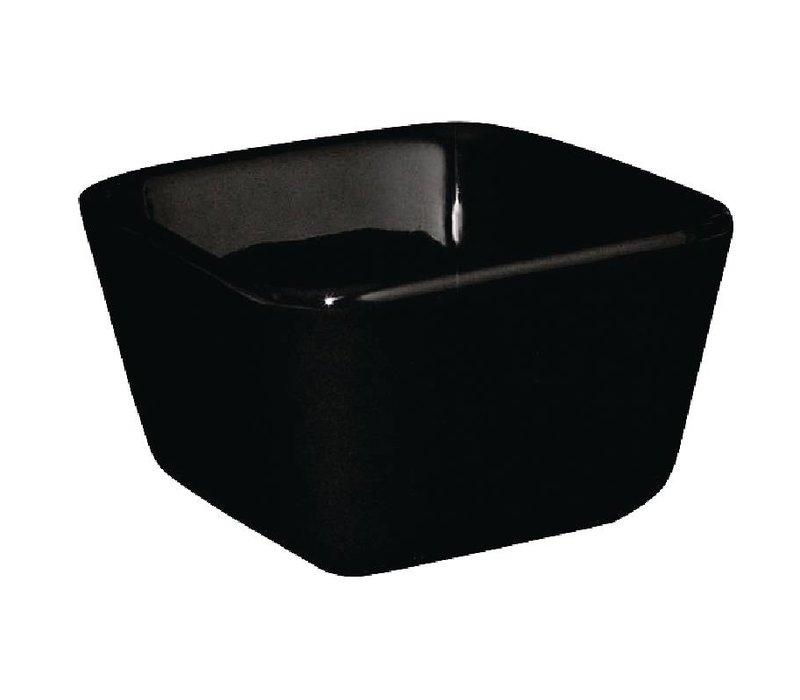 Olympia Hoge Mini-Schaal | Zwart Porselein | 75x75x50mm | 12 Stuks