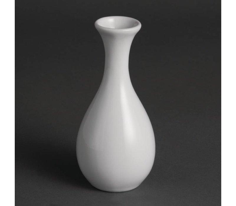 Olympia Vaasje | Olympia Wit Porselein | 125mm | 12 Stuks
