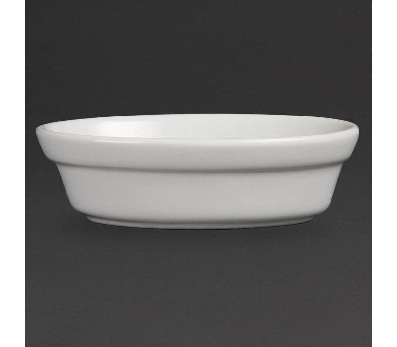 Olympia Taartschaal Ovaal | Wit Porselein | 44x145x104mm | 6 Stuks