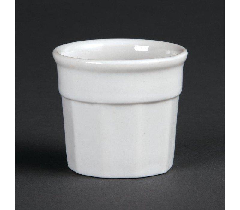 Olympia Sauspotje | Olympia Wit Porselein | 45x50mm | 12 Stuks