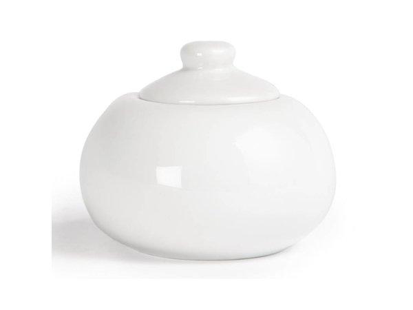 Olympia Suikerpot + Deksel | Wit Porselein | 250ml | 12 Stuks