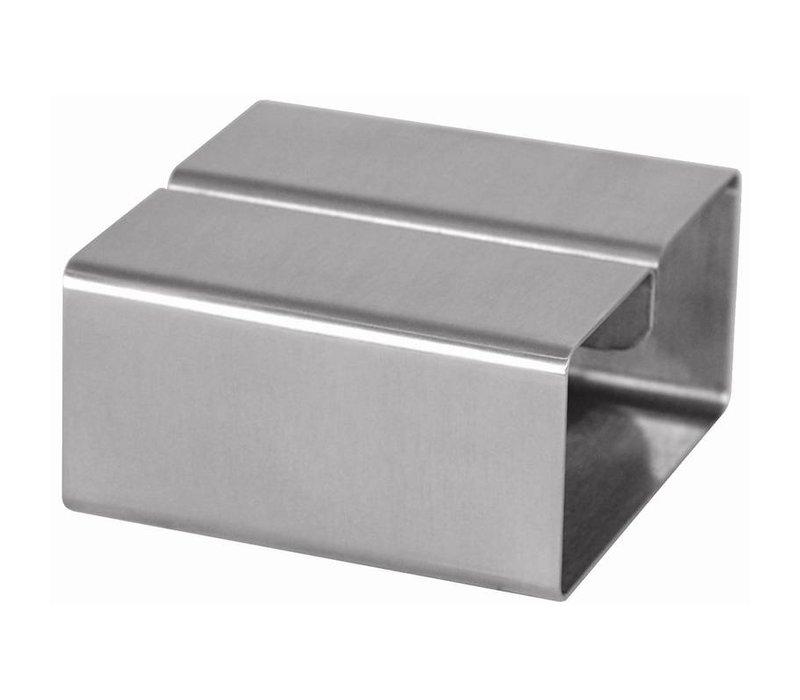 XXLselect Menukaarthouder RVS | Vierkant | 80x80x40(h)mm