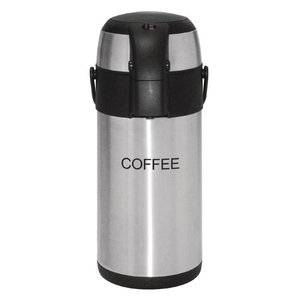 XXLselect Stainless steel with pump | COFFEE | 3 liter