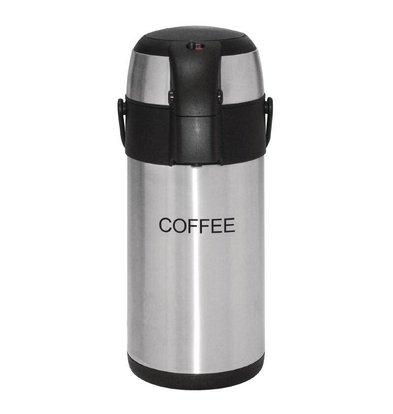 Olympia Edelstahl mit Pumpe | COFFEE | 3 Liter