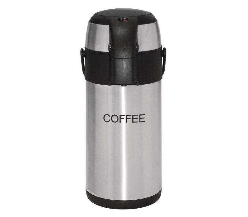 Olympia Stainless steel with pump   COFFEE   3 liter