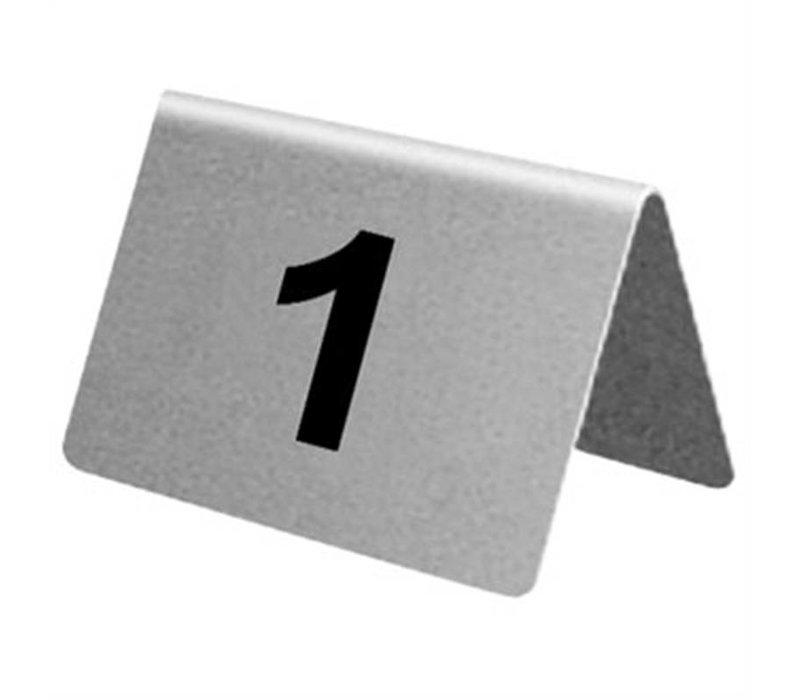 XXLselect Tafelnummers RVS   1-10
