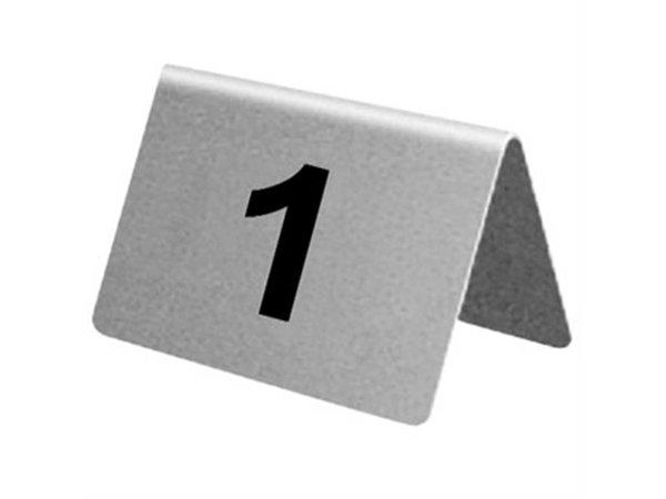 XXLselect Tafelnummers RVS | 21-30