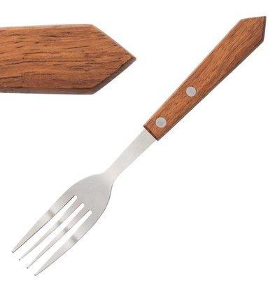 Olympia Steakvork | Houten Heft | 12 Stuks