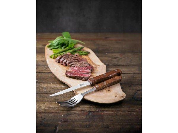 XXLselect Steakvork | Houten Heft | 12 Stuks