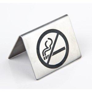 XXLselect Tafelbordje RVS | Verboden te Roken