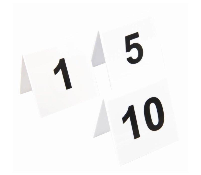 XXLselect Tafelnummers Kunststof | 1-10