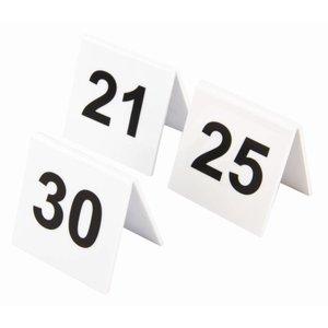 XXLselect Tafelnummers Kunststof | 21-30