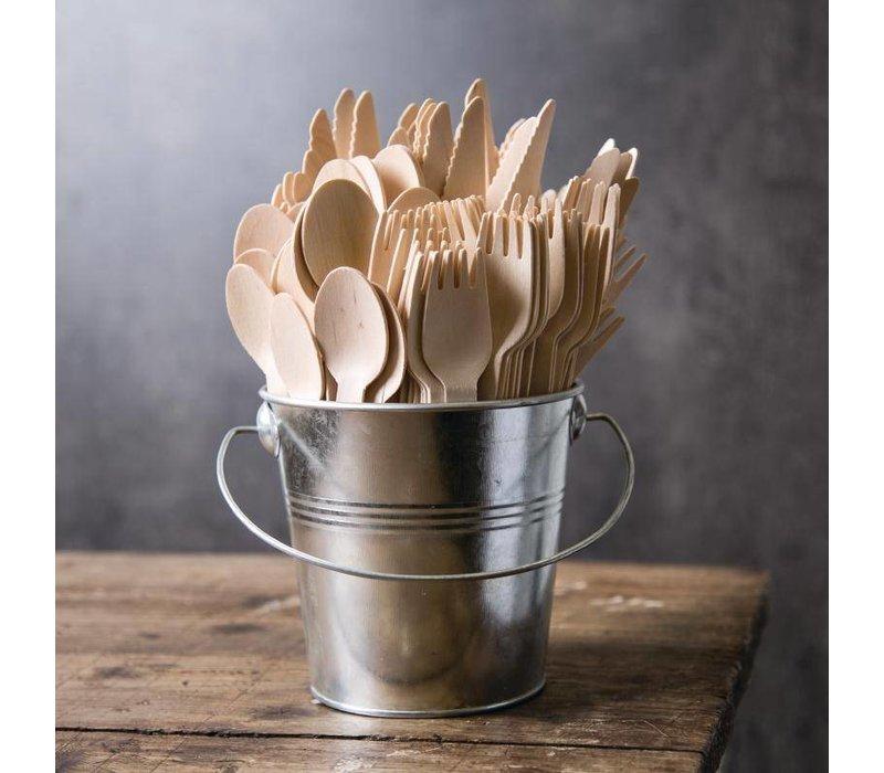 XXLselect Houten Dessertlepel | 170mm | Per 100 Stuks
