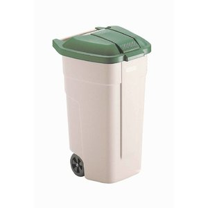 Rubbermaid Rolcontainer Rubbermaid | Groene Deksel | 100 Liter