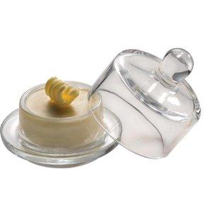 XXLselect Boterschaaltje + Glazen Deksel | Ø90x90mm