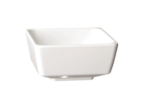 APS Float Vierkante Kom | Wit Melamine | 150mm