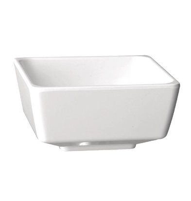 APS Float Vierkante Kom | Wit Melamine | 55mm