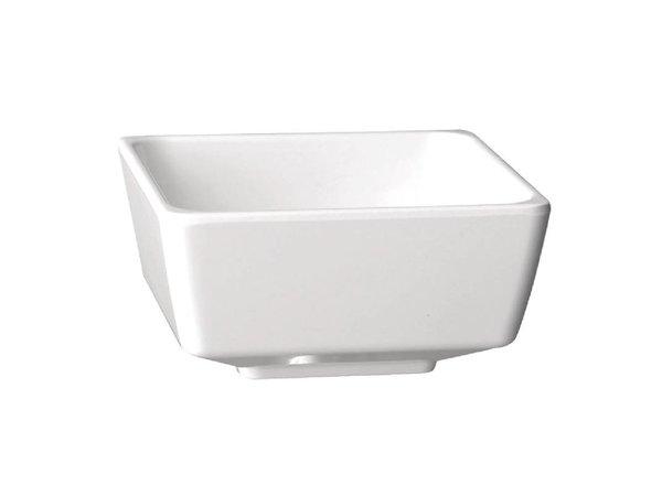 APS Float Vierkante Kom | Wit Melamine | 55mm