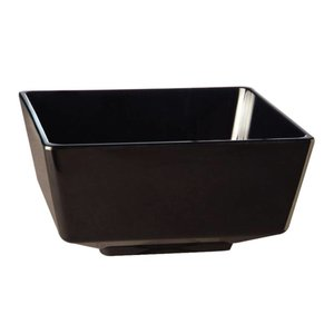 XXLselect Float Vierkante Kom | Zwart Melamine | 150mm