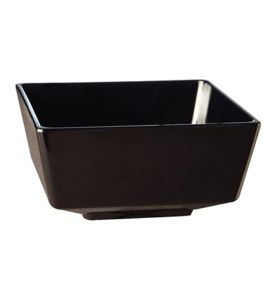 APS Float Vierkante Kom | Zwart Melamine | 150mm